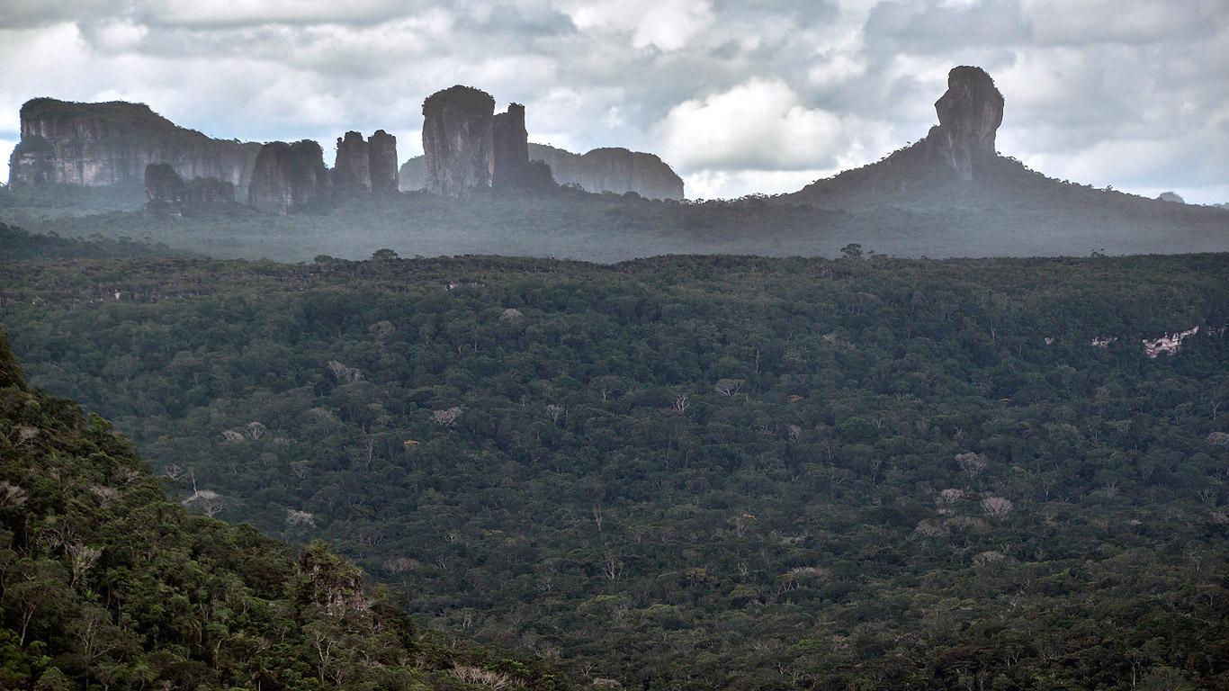 Imagen panorámica de la Serranía de Chiribiquete, ubicada entre los departamentos de Caquetá y Guaviare.