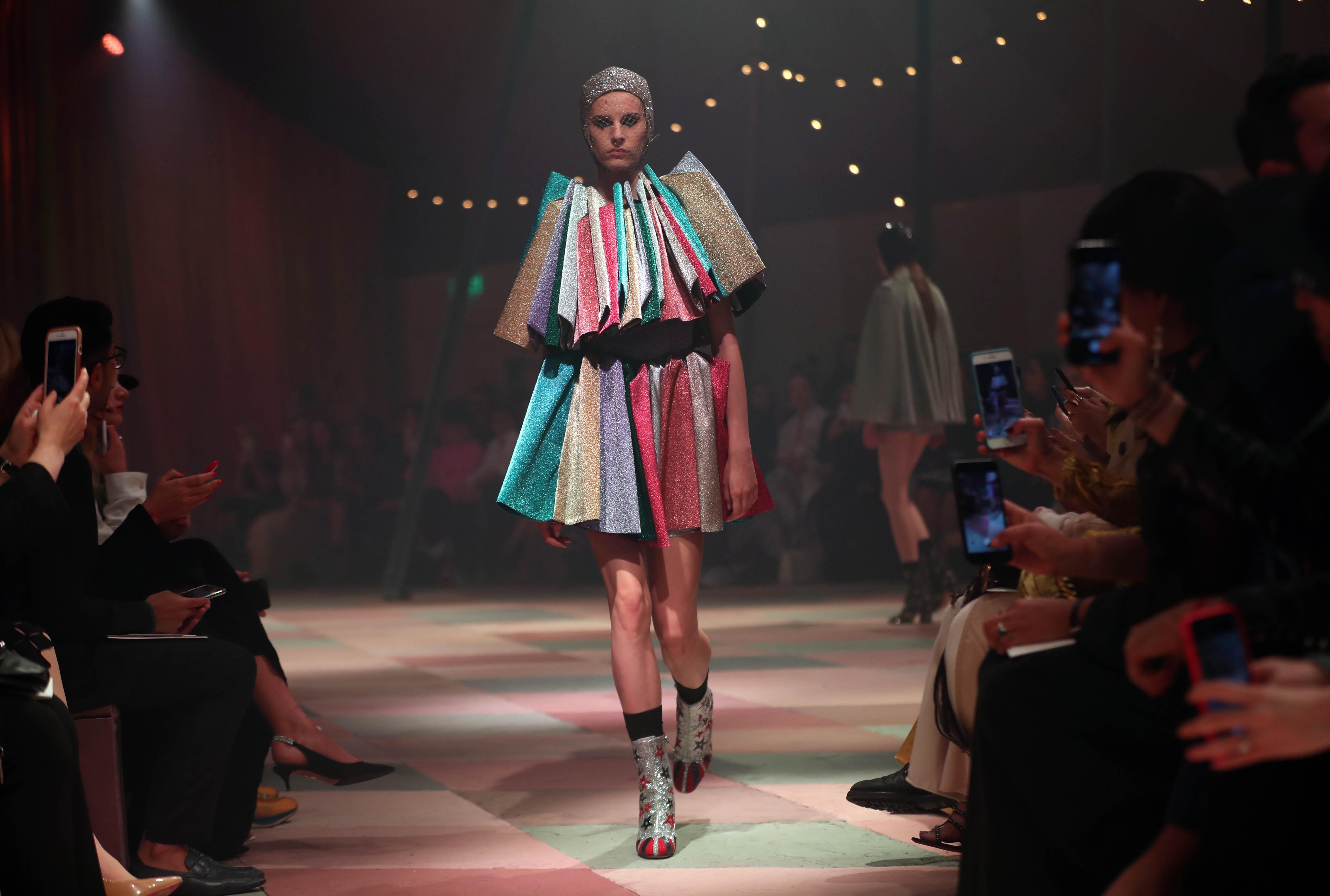 Los colores fueron grandes protagonistas entre los diseños presentados.