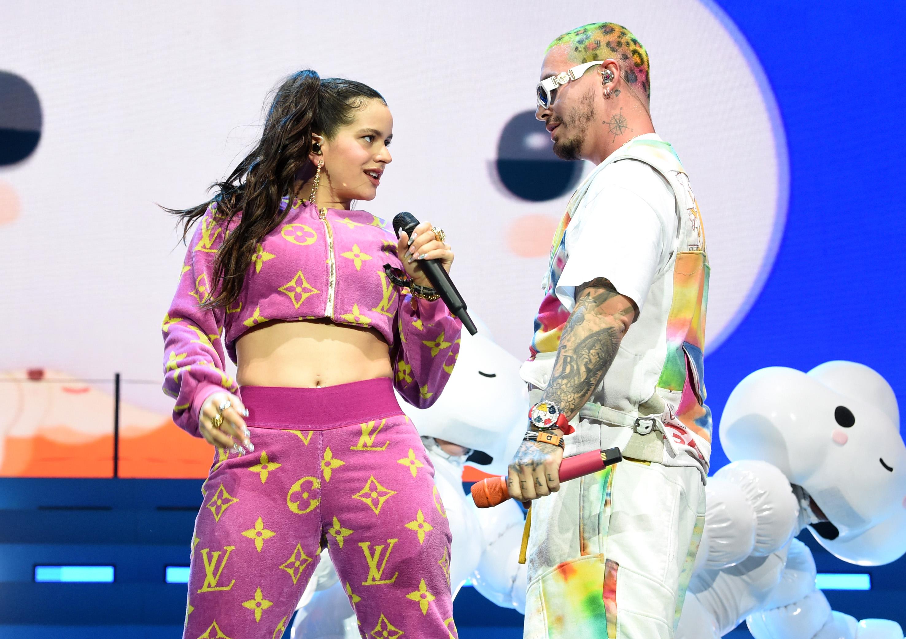 Balvin cantó a dúo con la española Rosalía