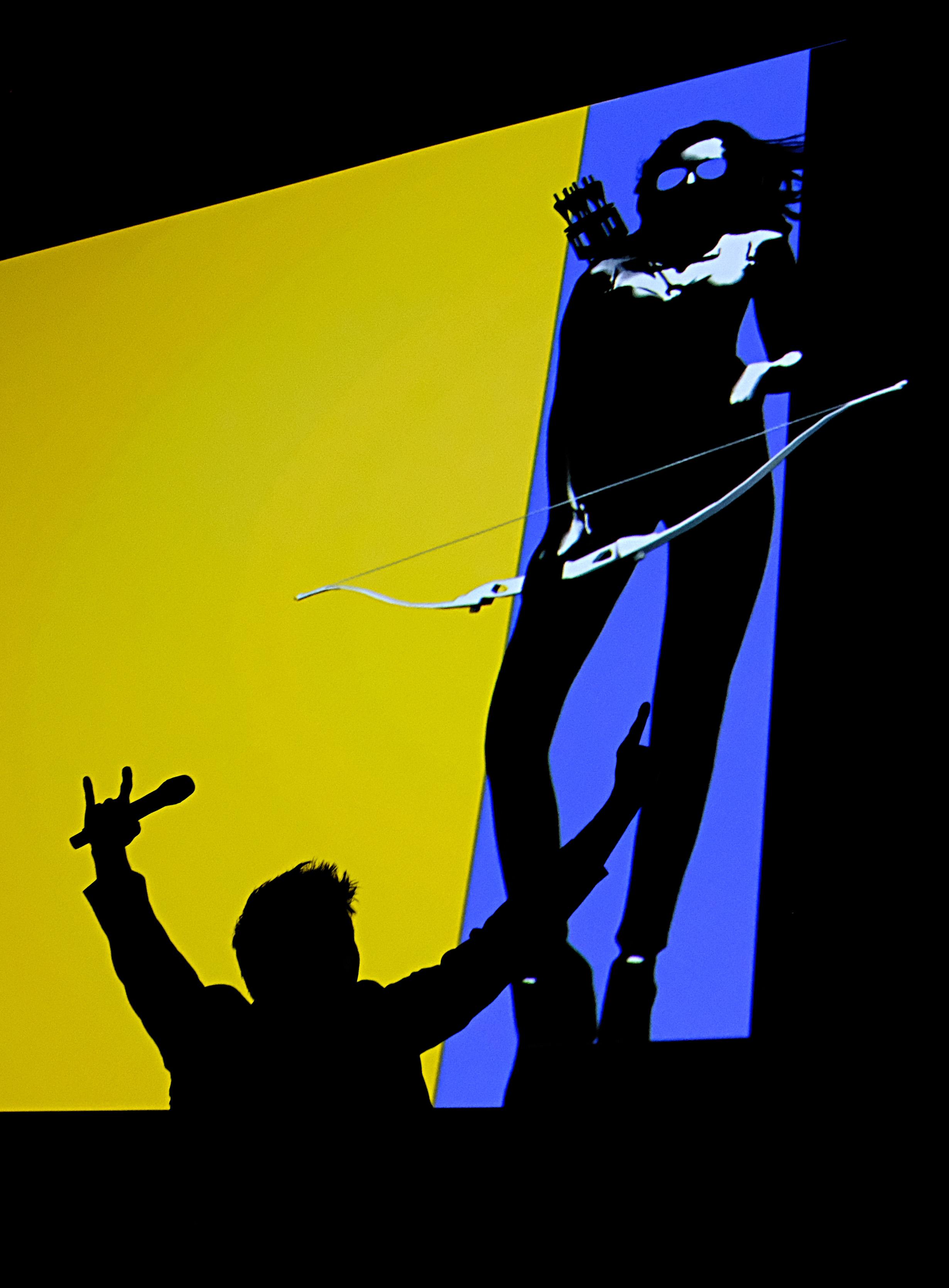 Jeremy Renner durante el panel de Hawkeye.