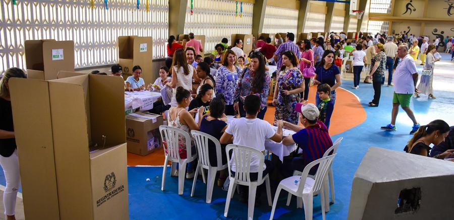 Desarrollo de las votaciones en Barranquilla.