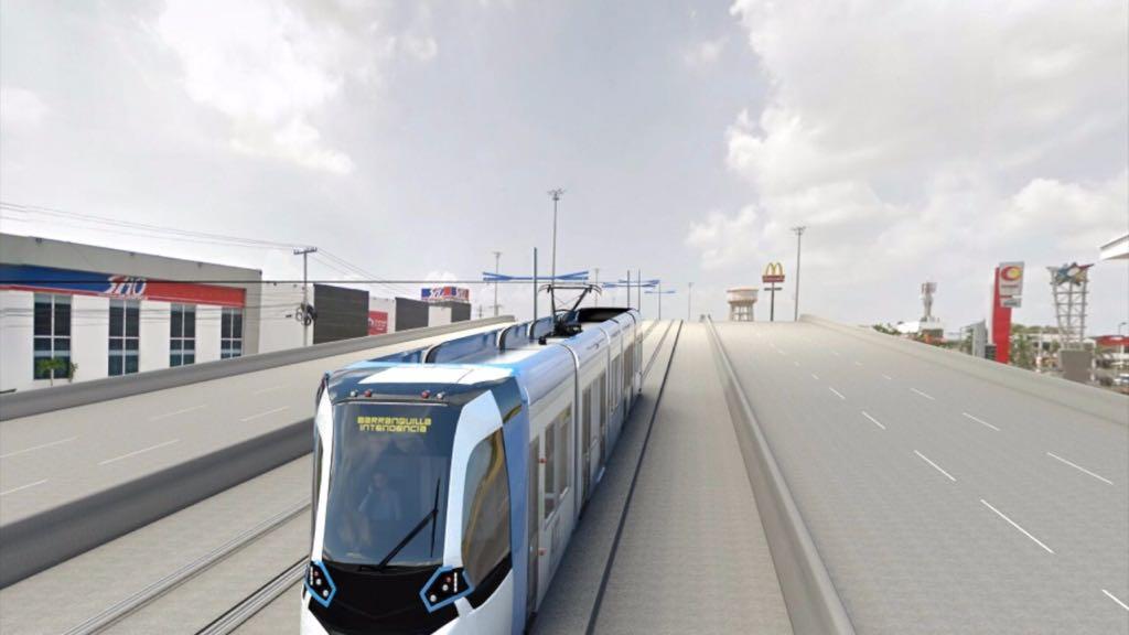 Render del Metro por el puente de Hipódromo.