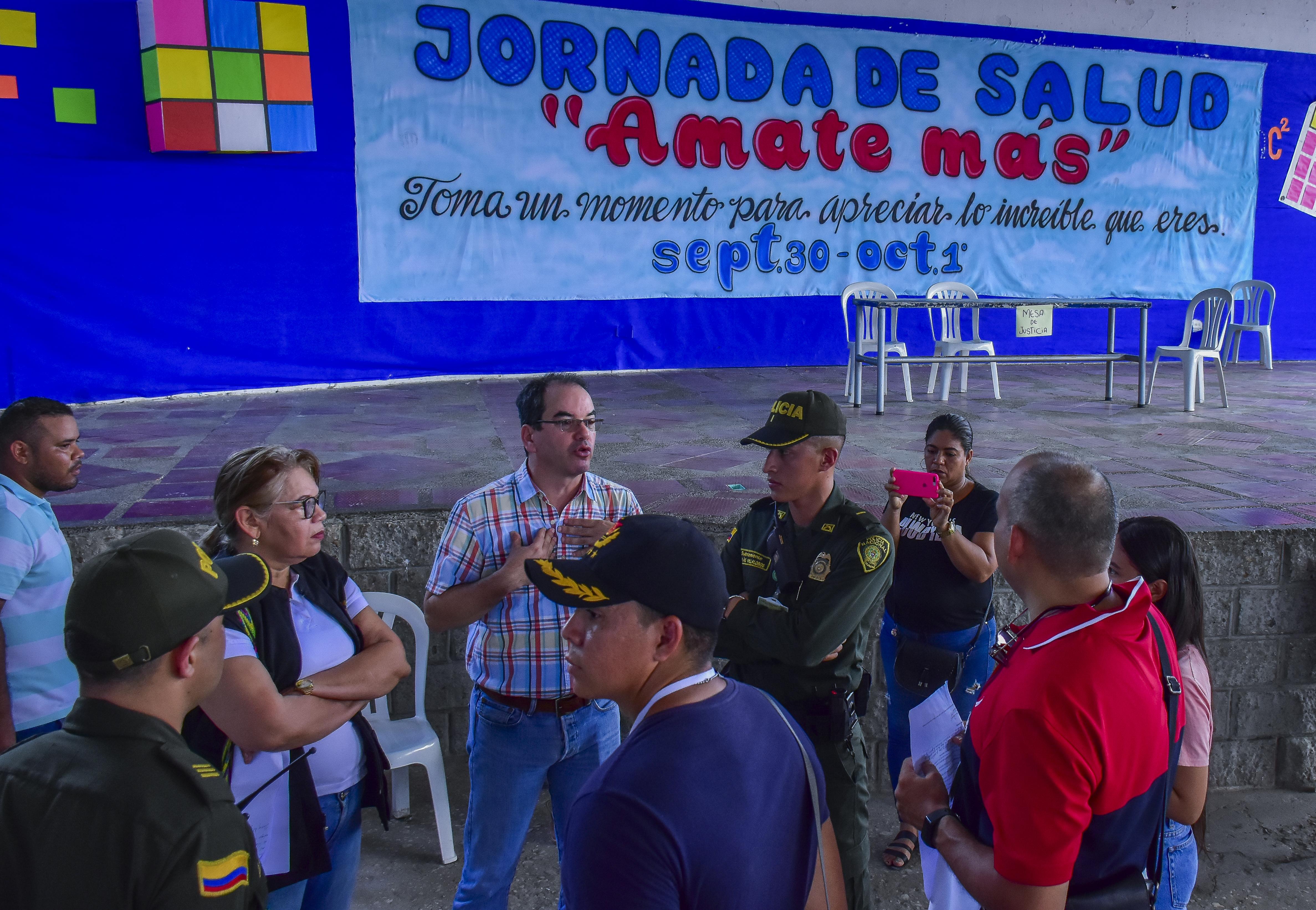 La mesa de justicia del colegio Dolores María Ucrós estuvo sola durante gran parte de la jornada.
