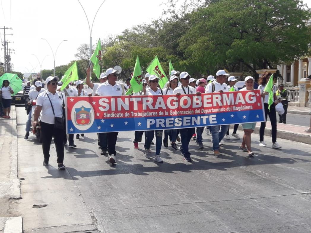 En la capital del Magdalena los marchantes terminaron en el centro histórico de la ciudad.