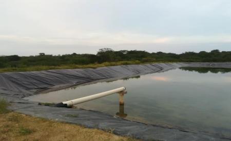 Vista de la laguna de oxidación en el municipio de Clemencia, Bolívar.