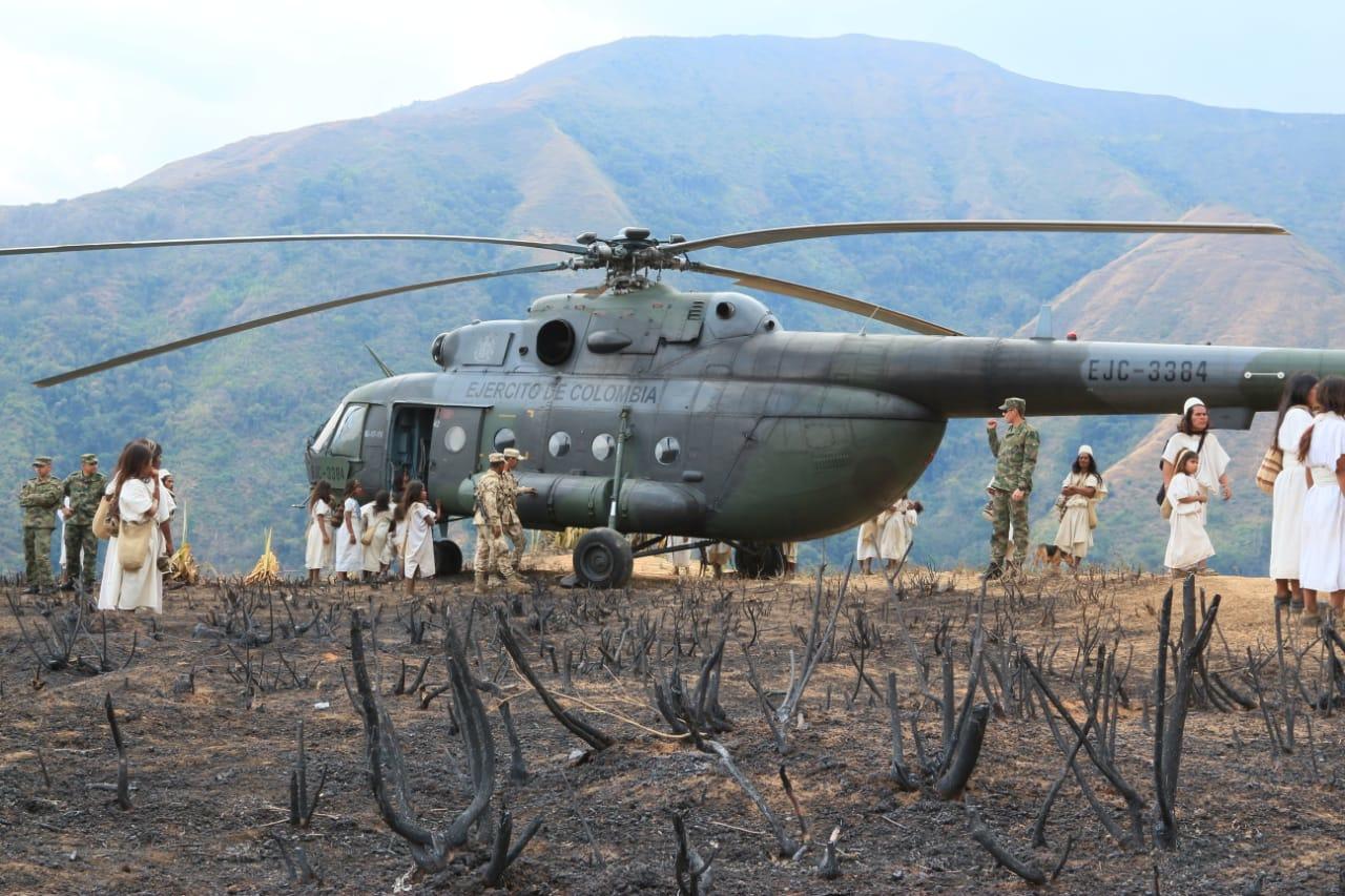 El Ejército ha facilitado el transporte de las ayudas.