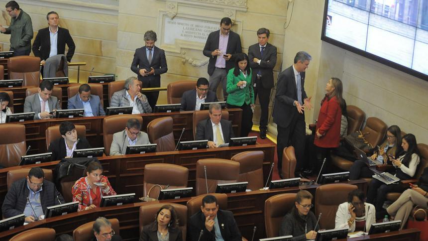 Vista de la sesión en el Senado en la que se votó el PND.