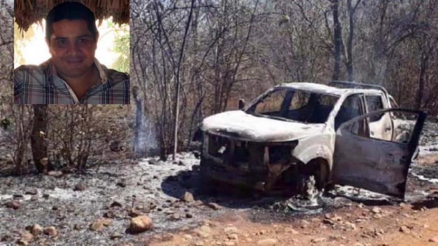 El cuerpo de Juan Felipe Ustáriz apareció incinerado dentro de su camioneta.