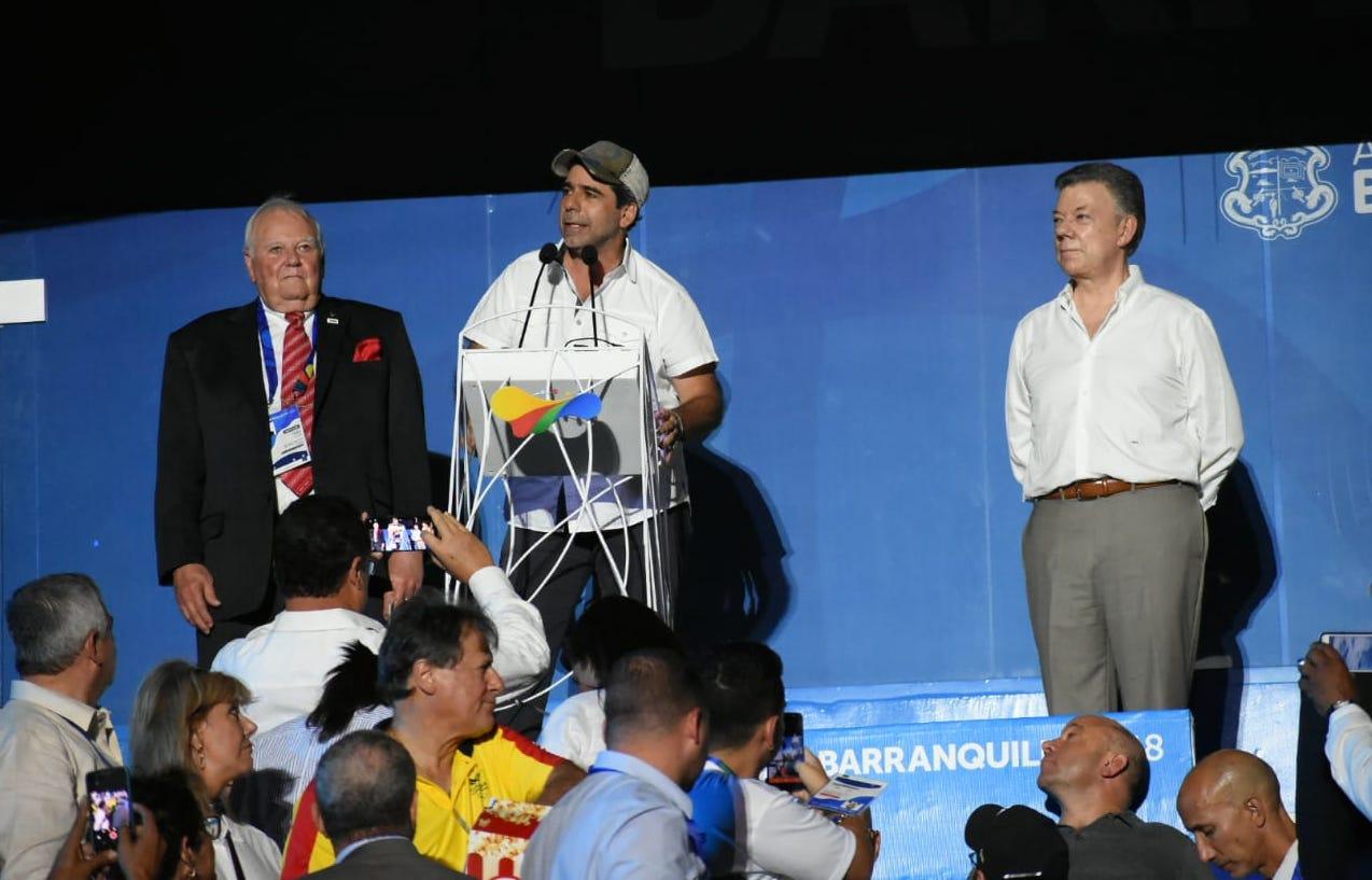 Char en la inauguración de los Juegos Centroamericanos y del Caribe.
