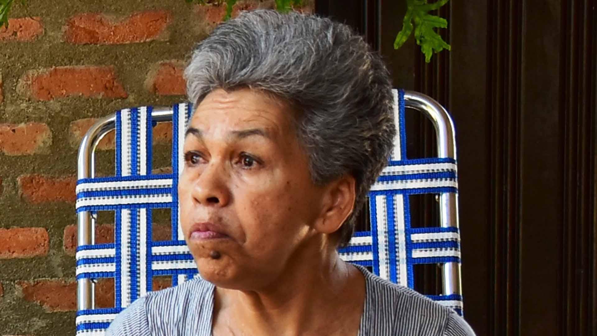 Carmen Mejía, viuda del primer dueño legítimo de la finca Las Nubes.