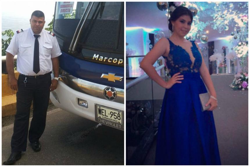 Dos de las víctimas del bus quemado: el conductor y una estudiante de Medicina.