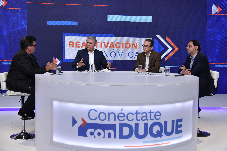 El pasado domingo el presidente Iván Duque lanzó el programa 'Conéctate con Duque' a través de la Tv.