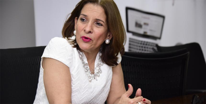 Margarita Cabello, ministra de Justicia, quien dio a conocer el borrador del decreto.