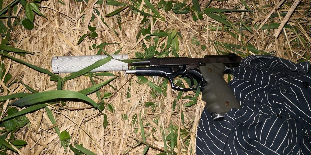 Arma encontrada.