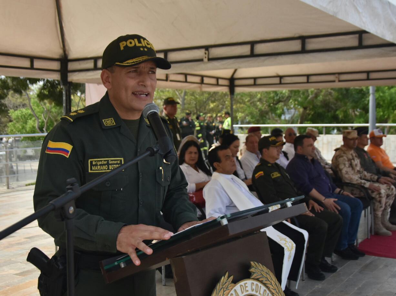 Mariano Botero Coy, comandante  de la Policía Metropolitana de Barranquilla.