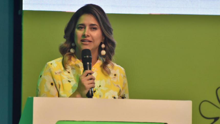 María Juliana Ruiz, primera dama de la Nación.