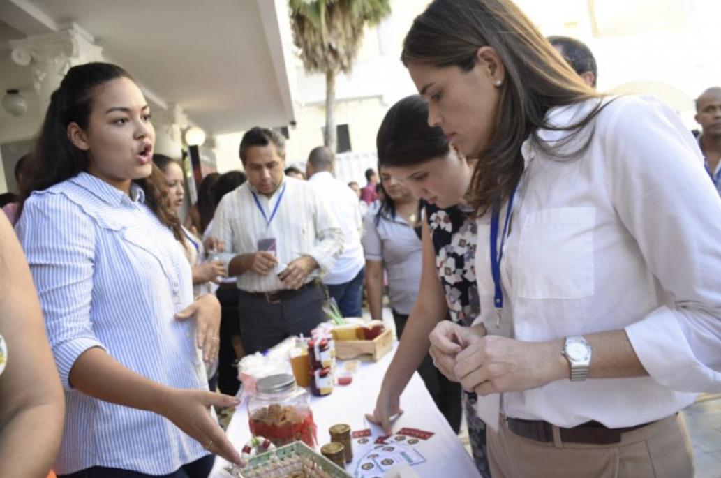 María Teresa Fernández en uno de los eventos.