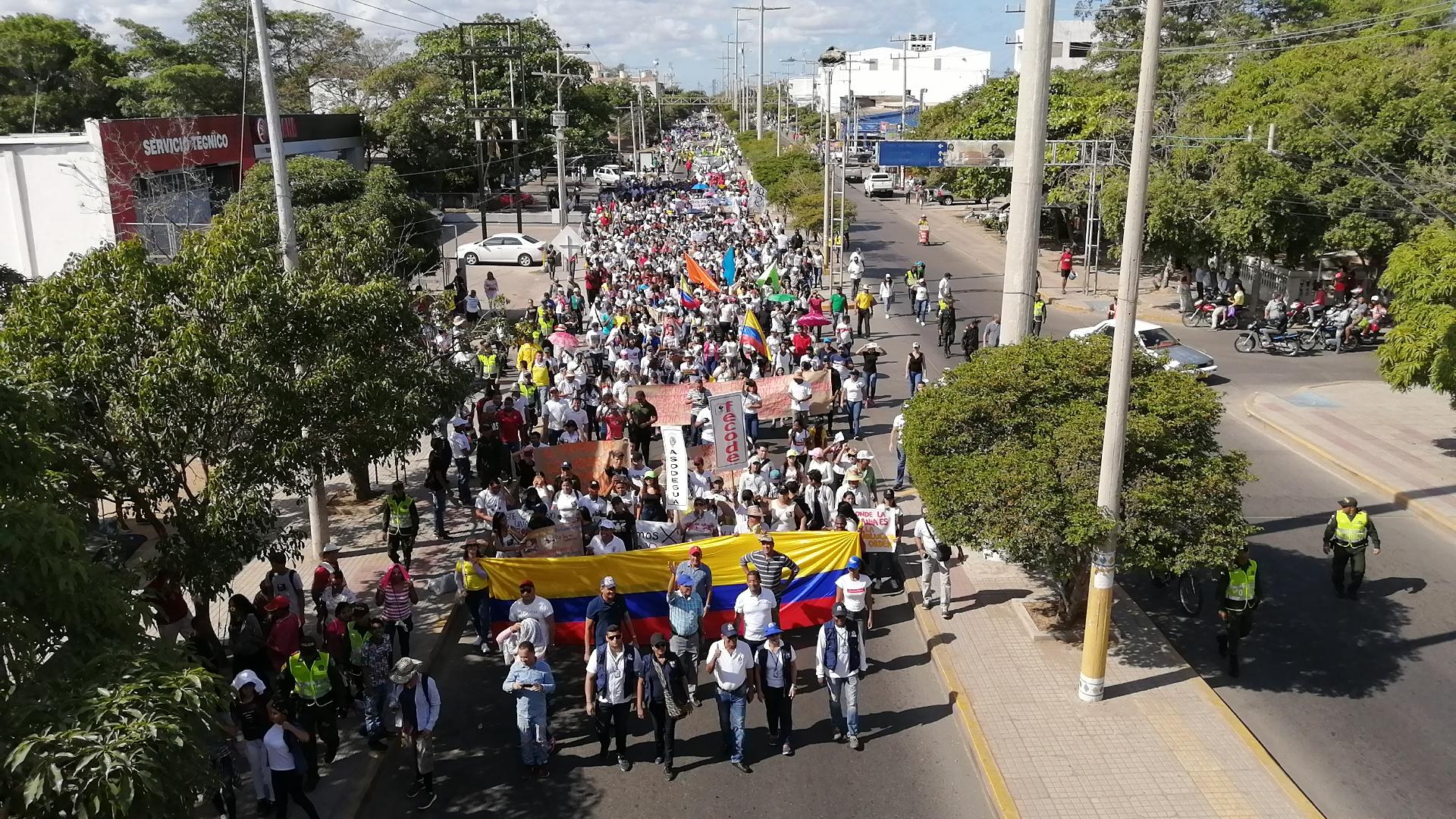 La marcha salió del parque Simón Bolívar.