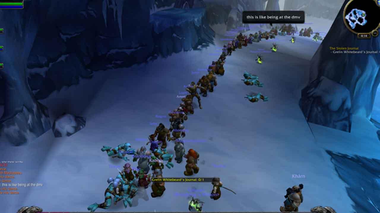 Cientos de jugadores hacen fila para sus misiones.
