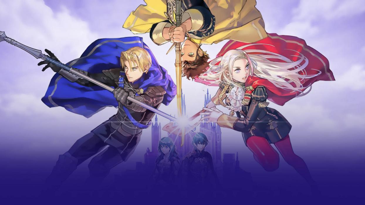 Dimitri, Claude y Edelgard, tres de los protagonistas del videojuego japonés, publicado en julio.