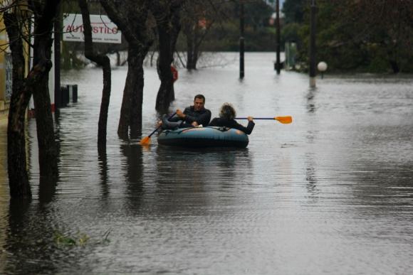 Inundaciones en Uruguay.