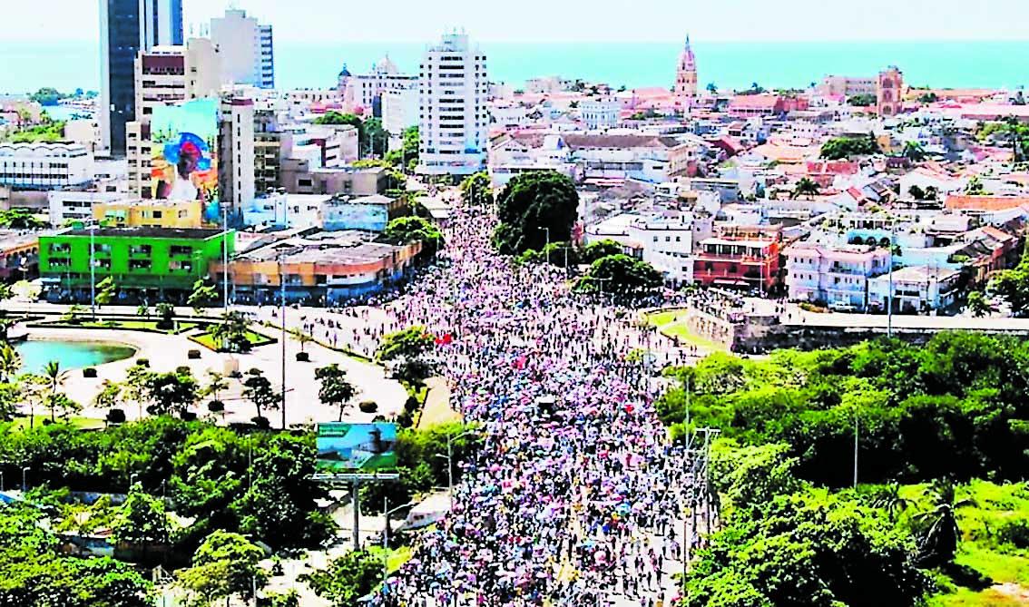 Imagen de la marcha en Cartagena.
