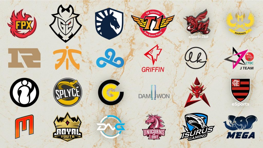 Logos de los 24 equipos que ingresaron al mundial.