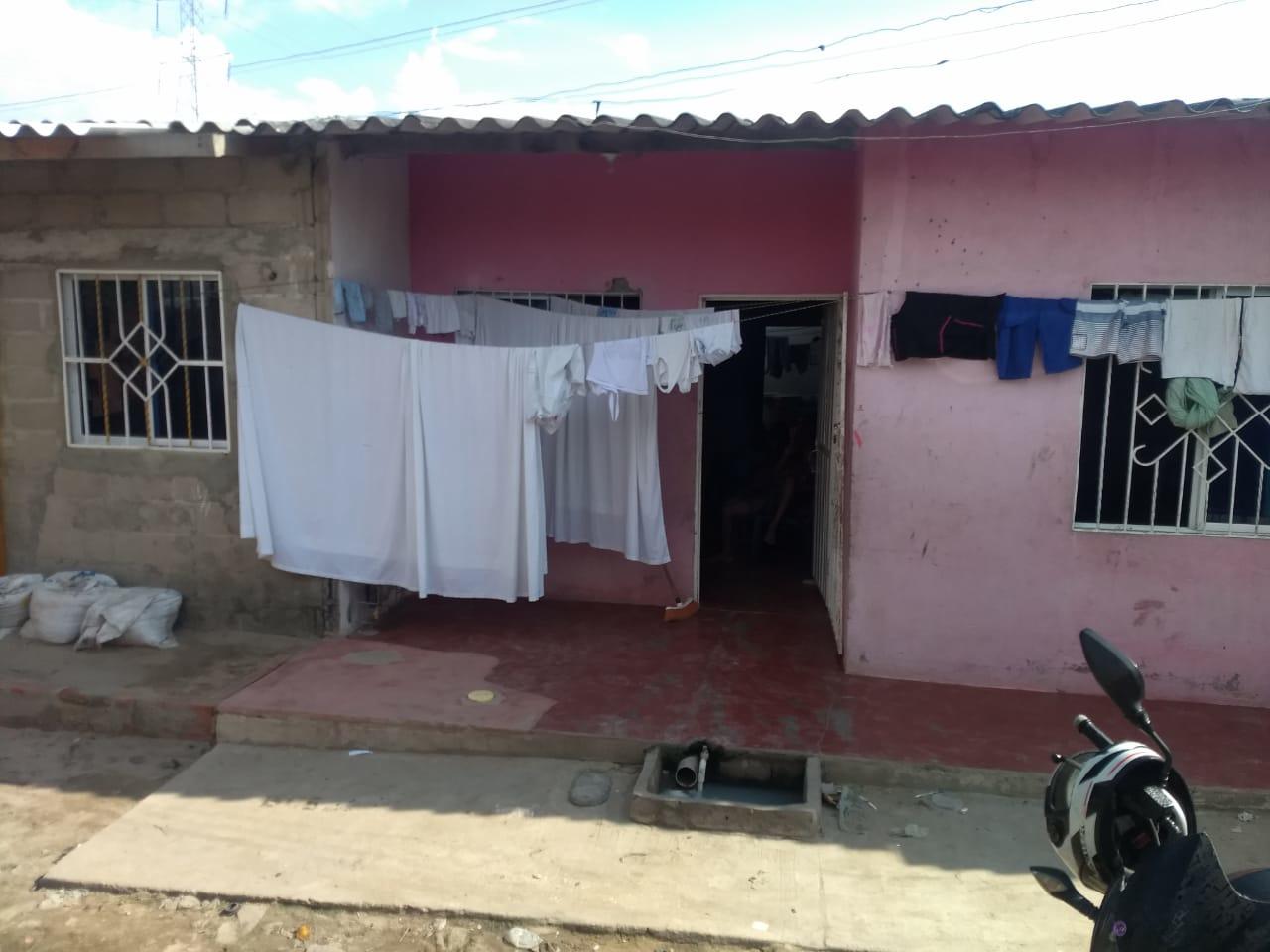 Vivienda donde ocurrió el feminicidio en Soledad.