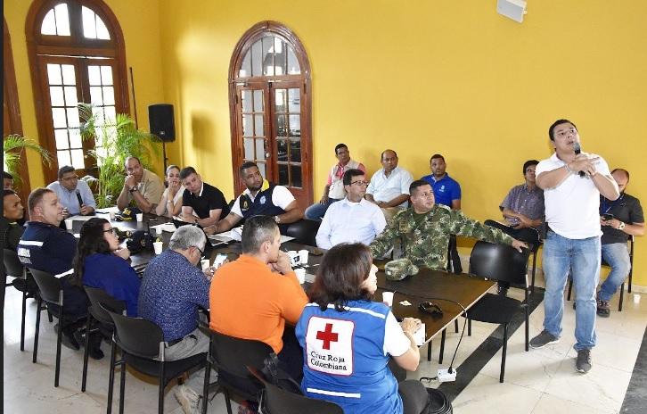 Reunión de Gestión del Riesgo sobre la emergencia.