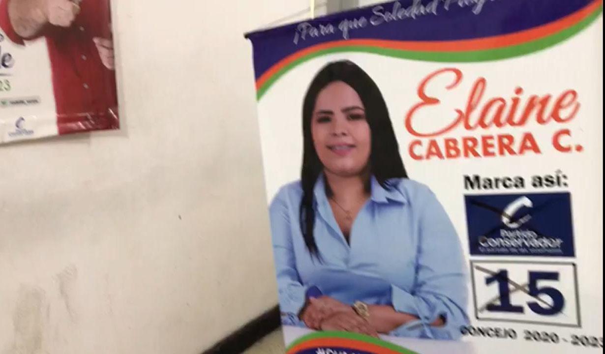 Durante el allanamiento a una oficina encontraron publicidad política de Elaine Cabrera.