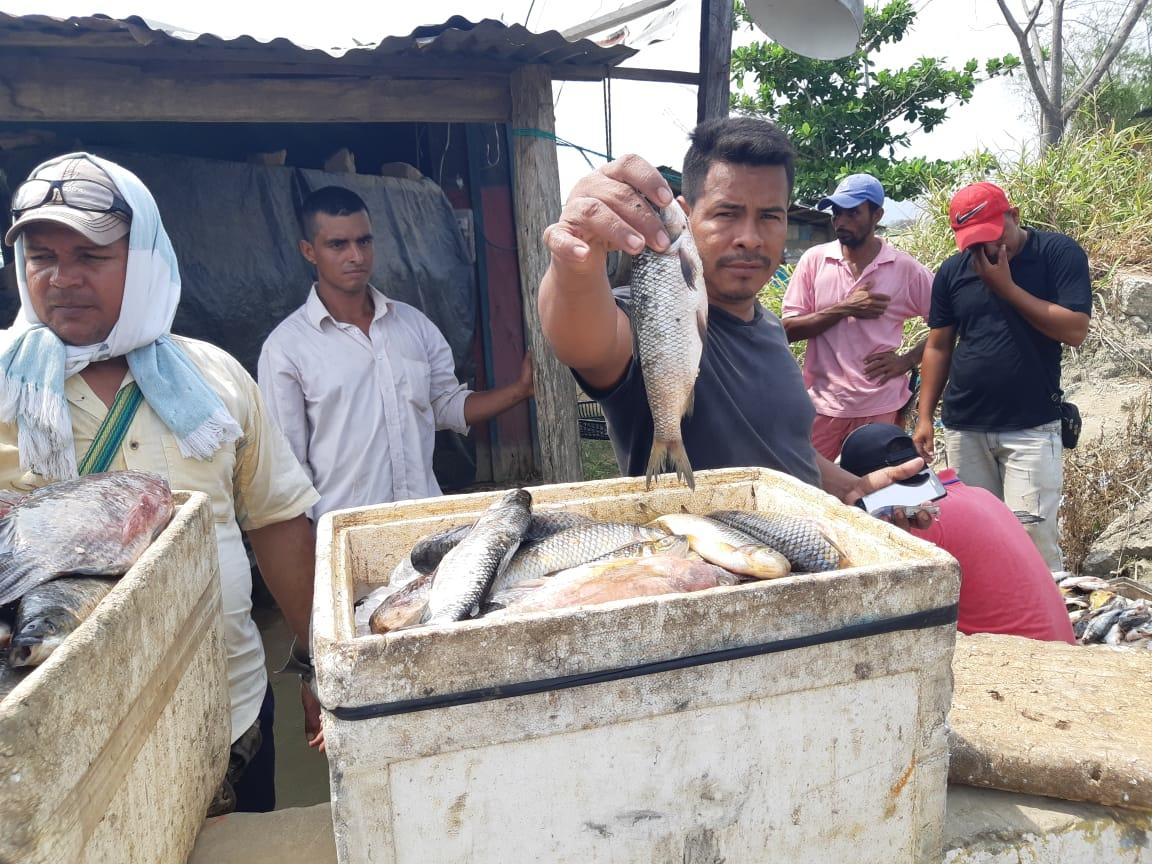 Los pescadores de esta zona manifestaron que se han visto afectados en los últimos meses.