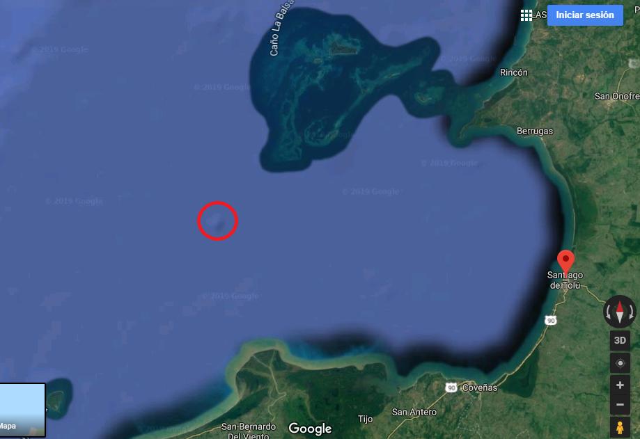 El punto conocido como zona de pargos.