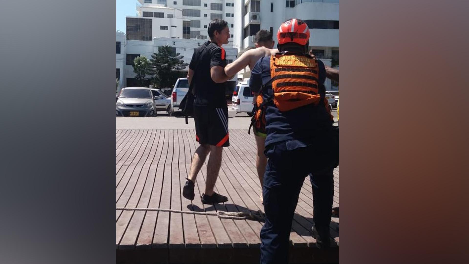 El turista herido fue llevado a una clínica de la ciudad.