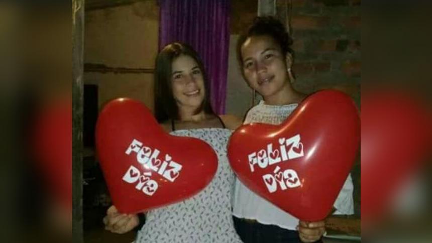 Las hermanas Duvis Daniela y Angélica Marcela Rocha Delgado murieron tras un choque vial.