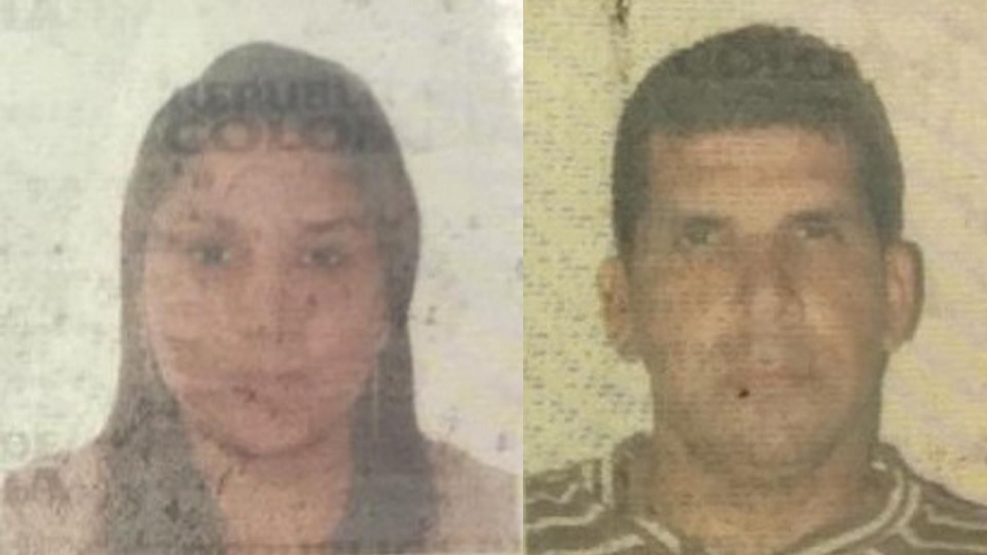 Yamile Margarita Barraza Mejía y Eliseo Rafael Barrios Pacheco, víctimas fatales del accidente en Maicao.