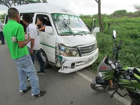 Así quedaron los dos vehículos involucrados en el accidente.