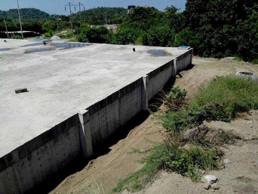 Tanque subterráneo para 5.000 m3, ubicado en el sector del río Cordobita.