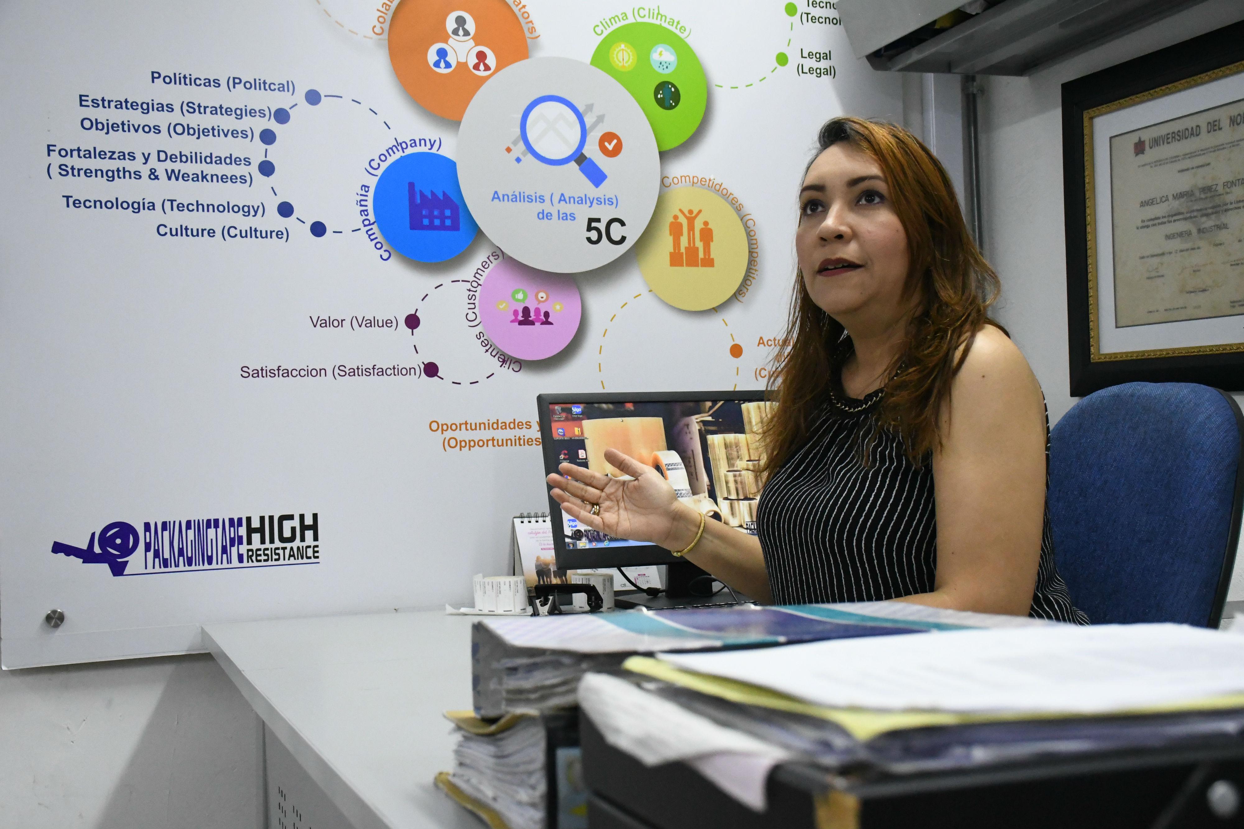 Angélica Pérez Fontalvo, emprendedora y fundadora de Packaging Suppliers.