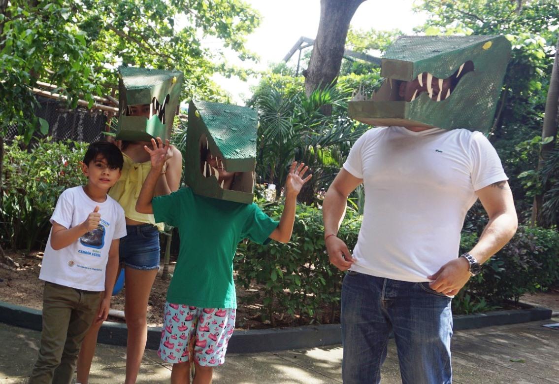 Niños y padres disfrutaron de múltiples actividades.