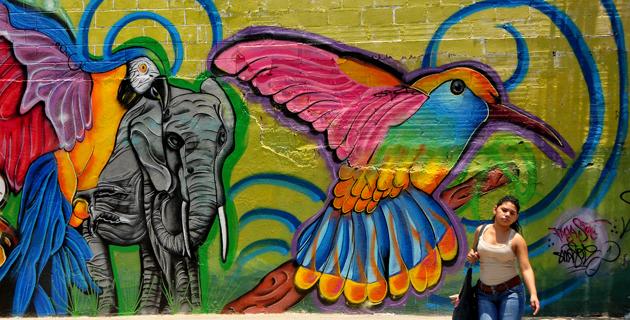 46 metros de arte urbano dan color a la Vía 40 | El Heraldo