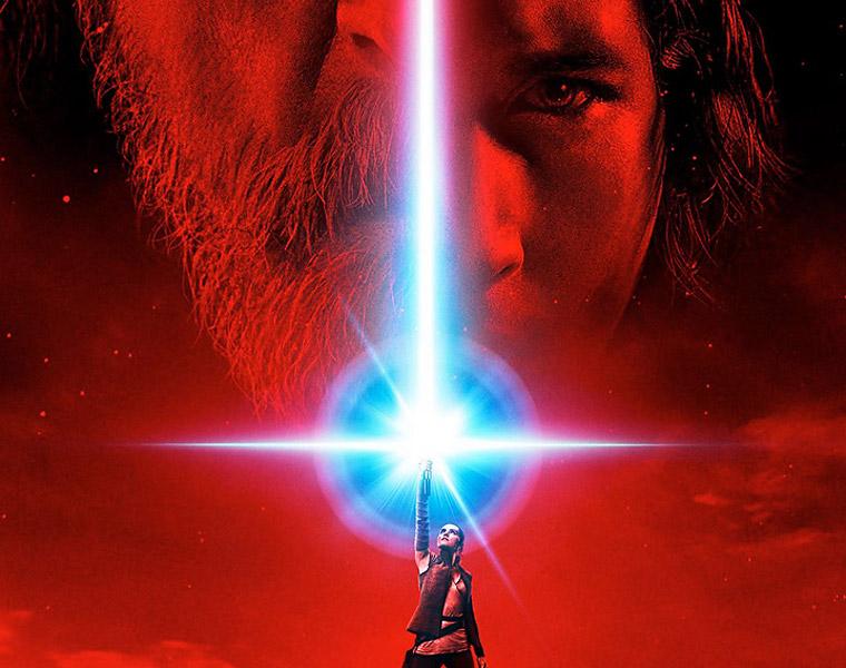 Póster oficial de la película 'Star Wars: The Last Jedi'.