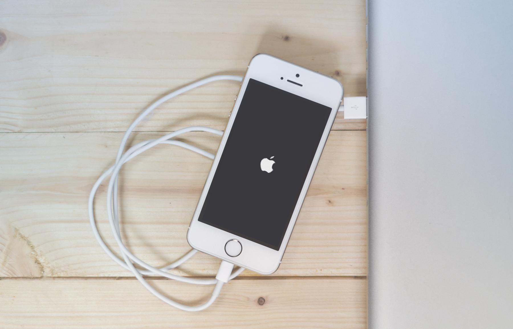 iPhone de referencia cargando.