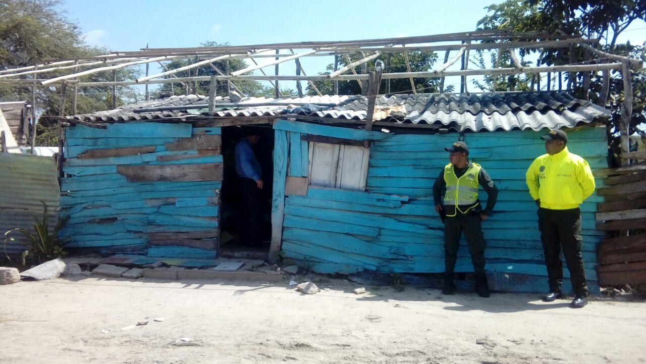Así lucía la casa en el barrio Buena Esperanza de Santo Tomás que fue demolida en el operativo policial.