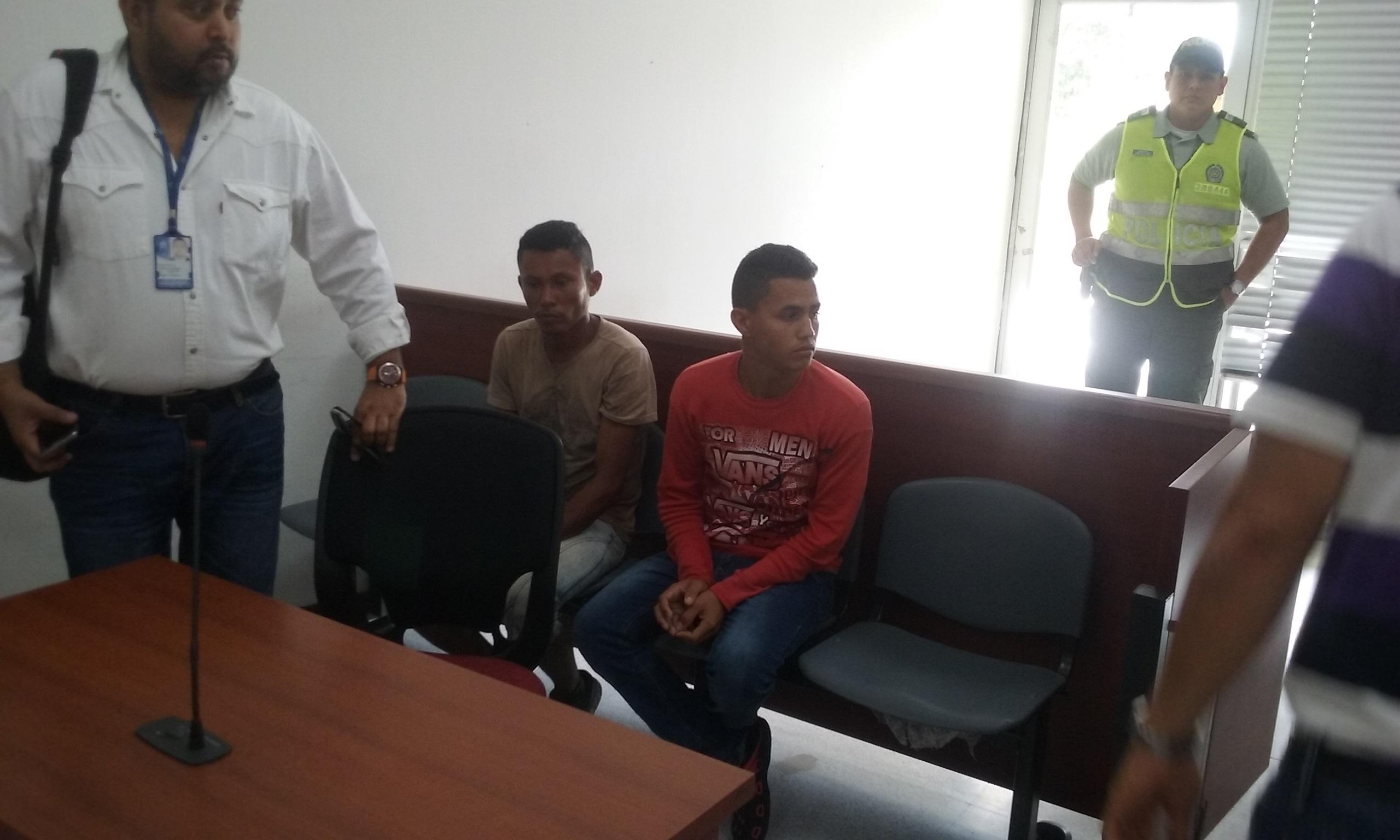 José Chacón Pérez y Jorge Coronado Domínguez, antes de iniciar las audiencias.
