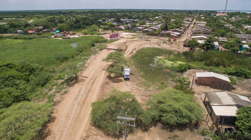 Tramo de la Vía de la Prosperidad en el municipio de Sitio Nuevo (Magdalena).