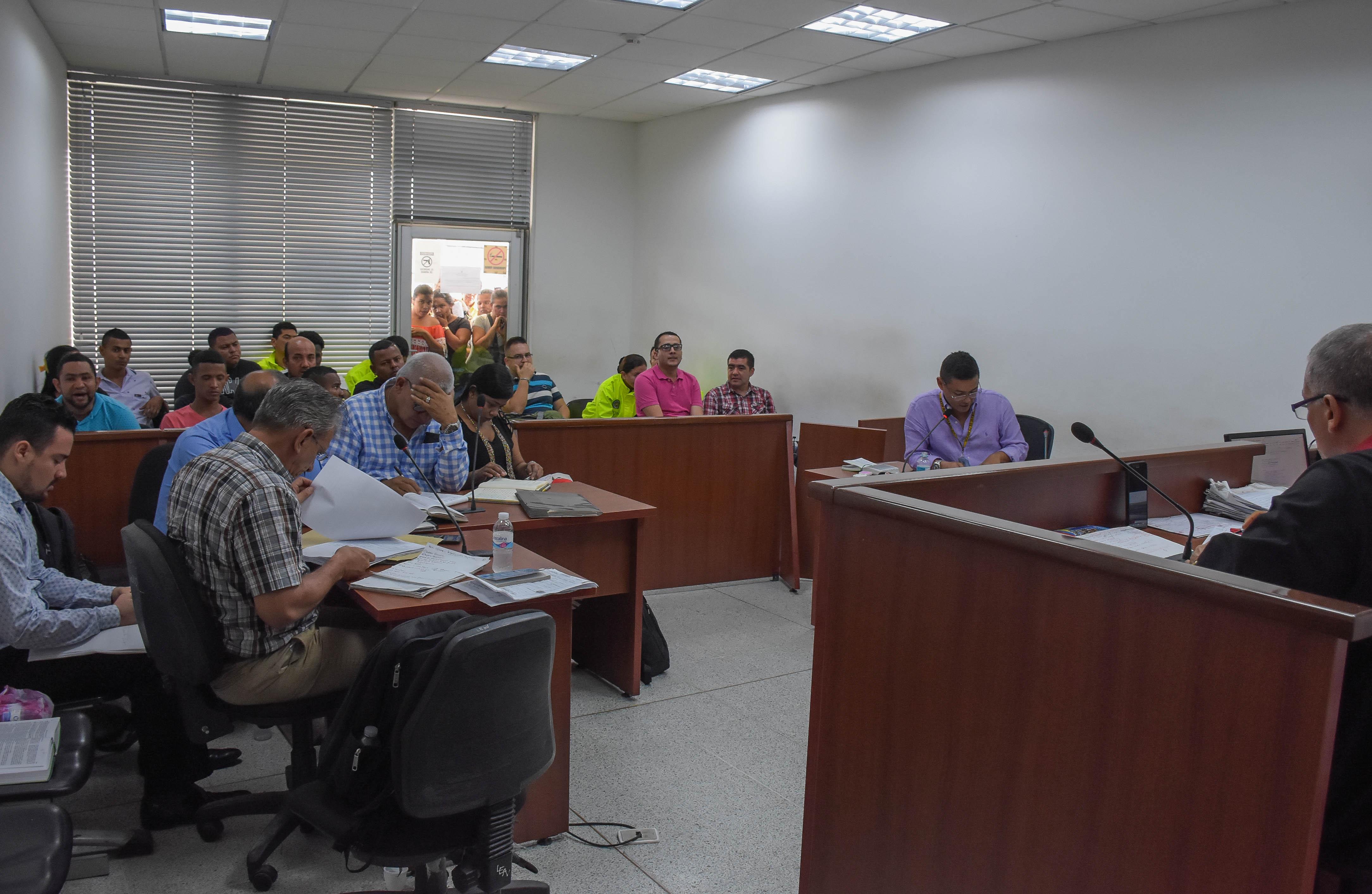 Durante la audiencia en la que judicializaron a diez presuntos integrantes de los Papalópez.