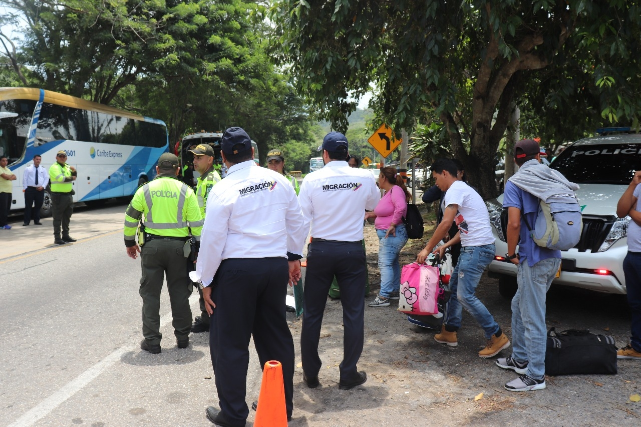 Deported from Santa Marta to 167 Venezuelans for irregular entry
