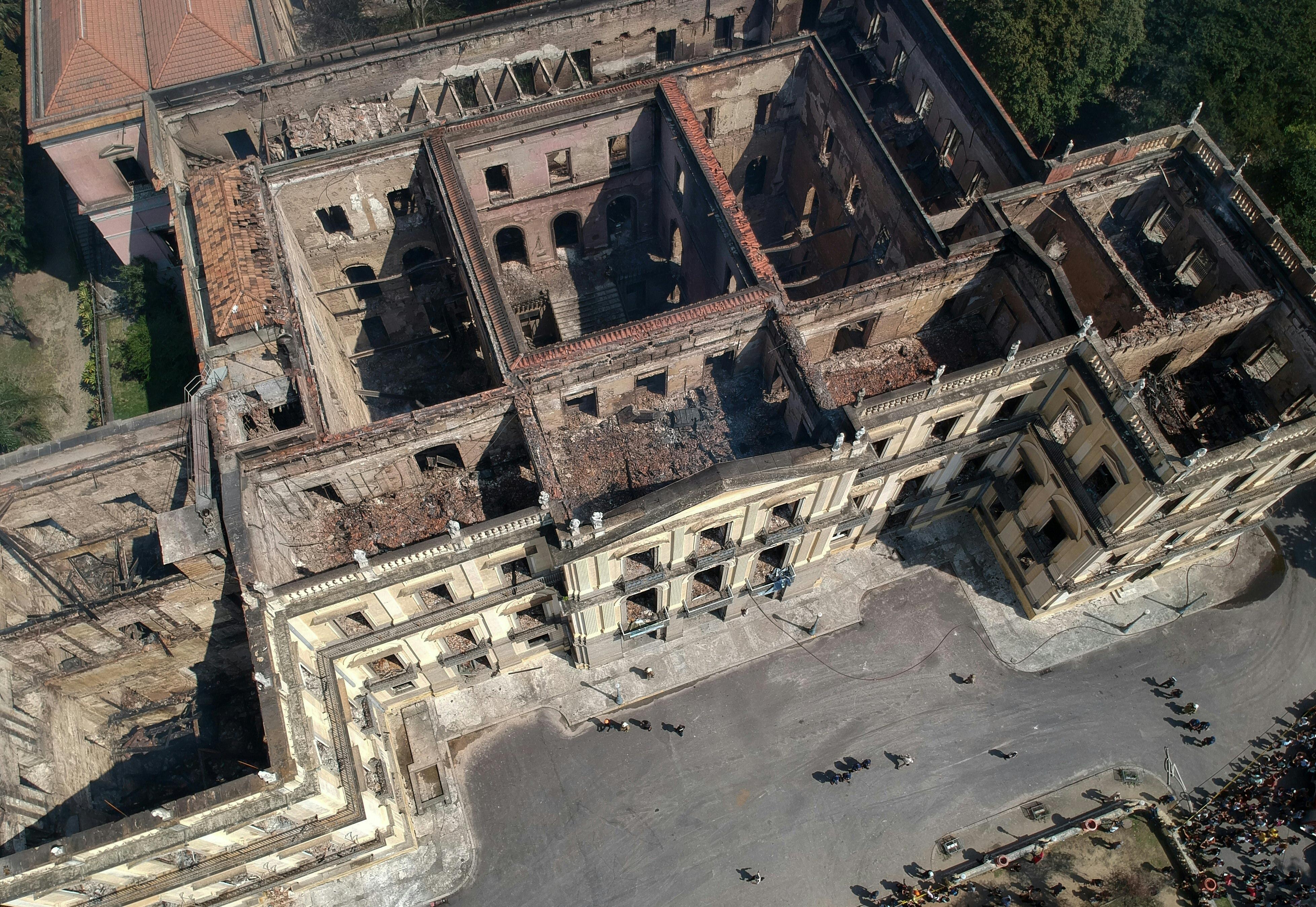 Las ruinas del Museo Nacional de Río de Janeiro.