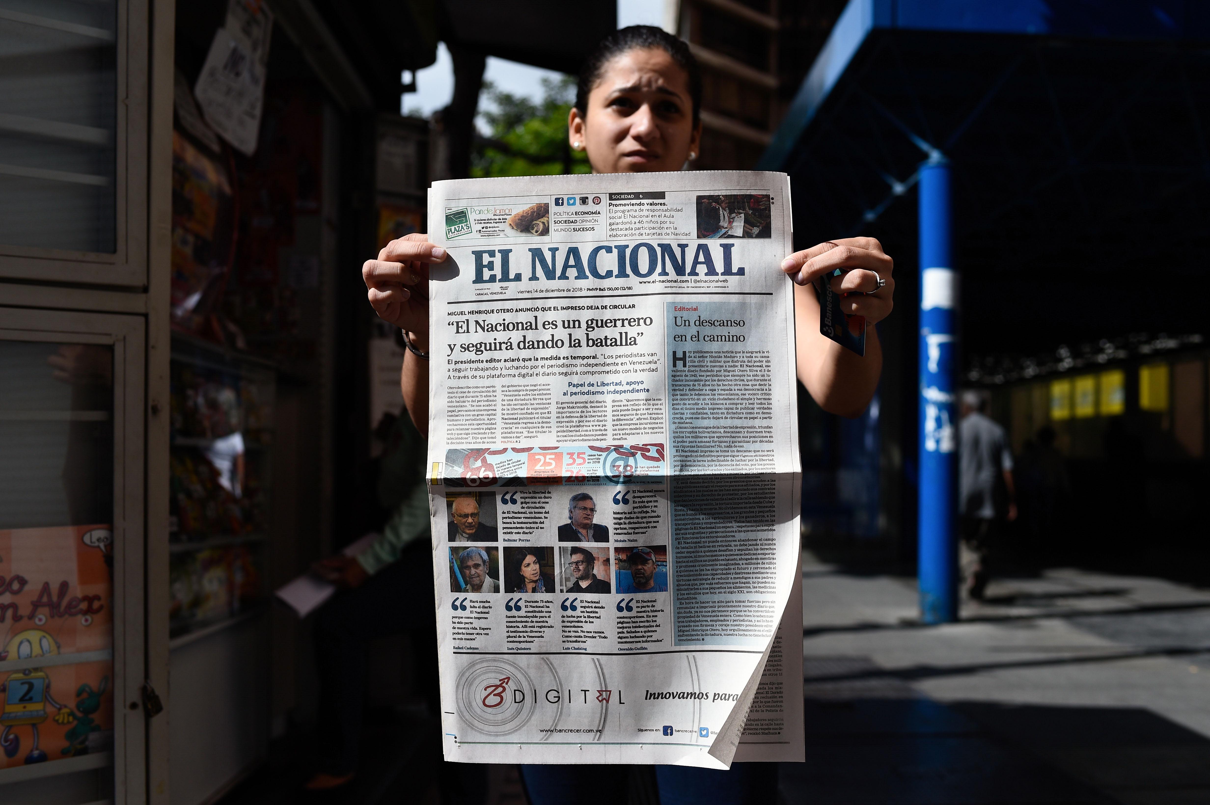 Dejará de imprimirse El Nacional tras 75 años de circulación