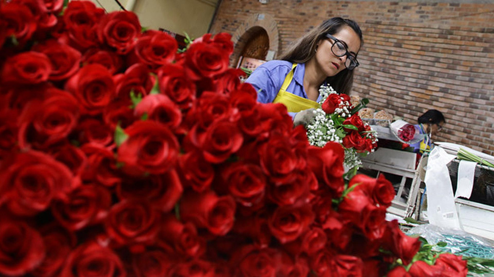 Colombia exportó más de 35.000 toneladas de flores para el día San Valentín